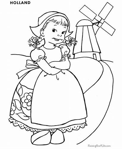 Coloring Princess Printable Colouring Children Dutch Around