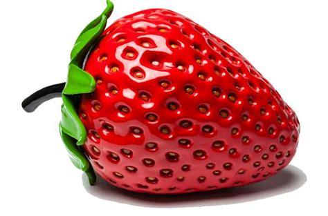 objet d 233 coratif strawberry kare design statue design pas cher