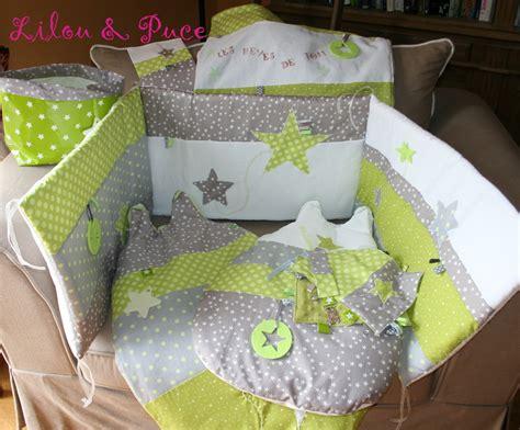 th 232 me anis gris taupe blanc sur commande tour de lit linge de lit enfants par lilouetpuce