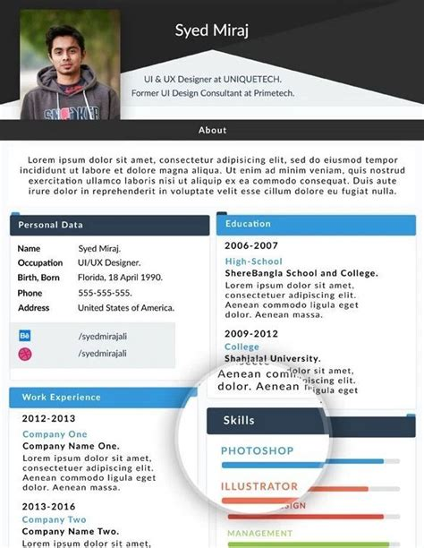 Web Resume Template by 130 New Fashion Resume Cv Templates For Free