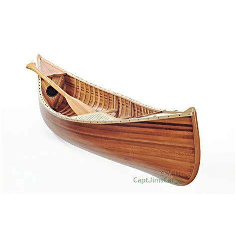 Canoe Flats Boat by Display Cedar Built Canoe 6 Wooden Model Boat Flat