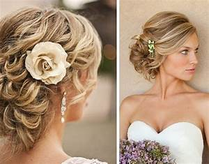 Chignon Cheveux Mi Long : coiffure mariage cheveux mi long chignon coiffures ~ Melissatoandfro.com Idées de Décoration