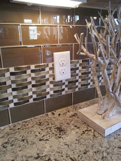 basketweave subway subway tiles with mosaic accents glass subway tile with