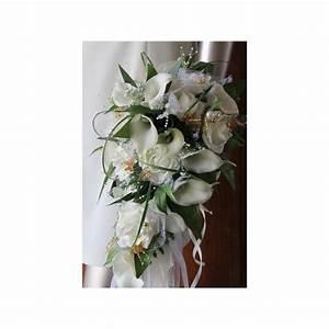 Bouquet De La Mariée : beau bouquet de mari e tombant th me arums blanc et or ~ Melissatoandfro.com Idées de Décoration