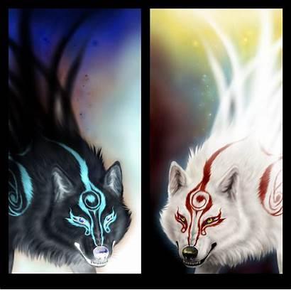 Wolf Dark Heaven Hell Anime Wolves Drawings