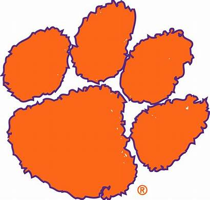 Clemson Tigers Clipart Tiger Paw Logos Vector