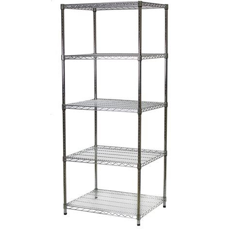 Wire Shelving by 24 Quot D X 30 Quot W Chrome Wire Shelving Unit With 5 Shelves