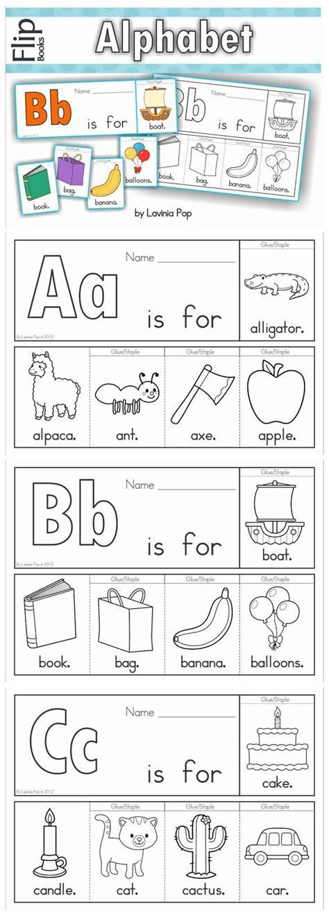 alphabet flip books worksheets  images alphabet
