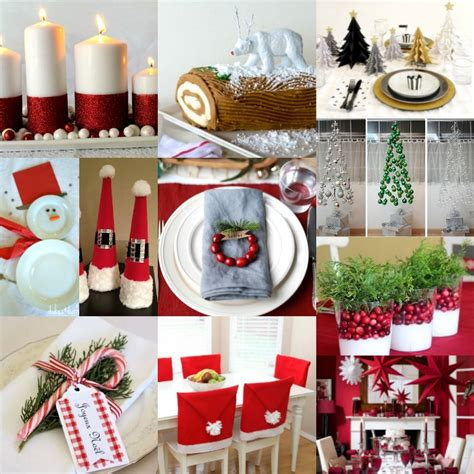 diy christmas table decorations  christmas table