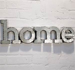 metal word wall art quothomequot miami by antique farmhouse With wall decor words letters