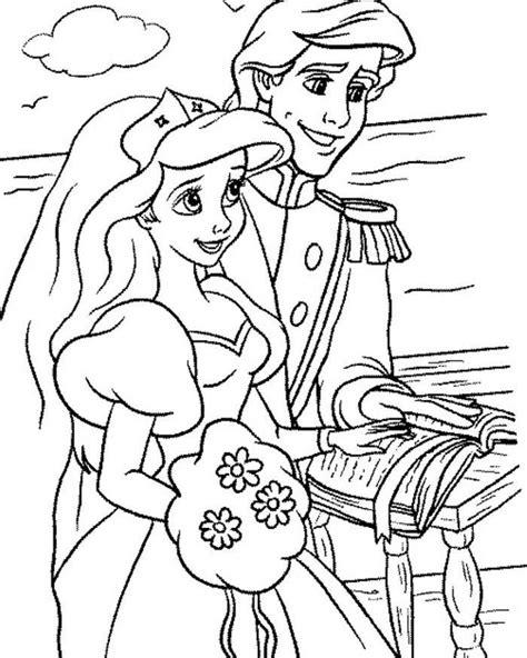 Kleurplaat Ariel Eric by Ariel Princess Coloring Pages Coloring Home