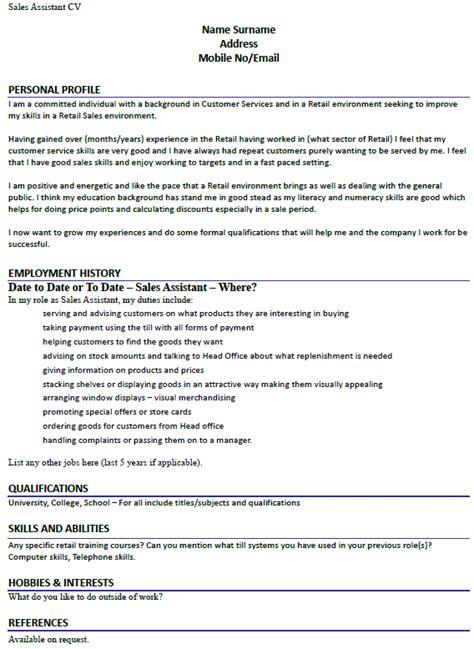 How To Make Cv For Sle by Sales Assistant Cv Exle Lettercv