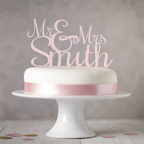 Personalised Mr And Mrs Wedding Cake Topper By Sophia