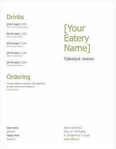 design your own free menu template pos sector With free take out menu templates