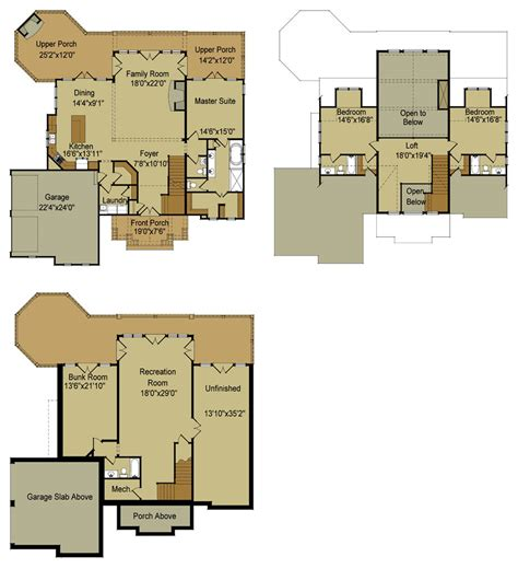 house floor plans rustic mountain house floor plan with walkout basement