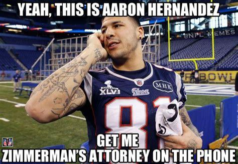 Hernandez Meme - political memes aaron hernandez reacts to the zimmerman verdict