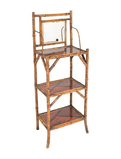 Bamboo Etagere Furniture by Bamboo Chinoiserie Etagere W Mirror Furniture