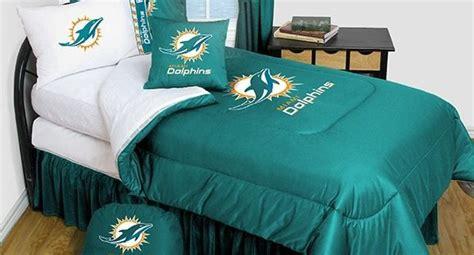 miami dolphins bedding nfl comforter  sheet set combo