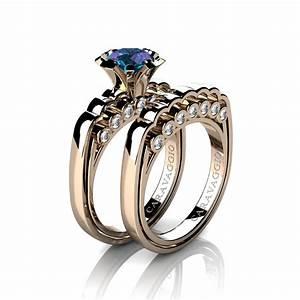 caravaggio classic 14k rose gold 10 ct alexandrite With alexandrite wedding rings