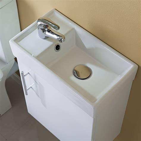 Small Modern Bathroom Vanity Sink by 400mm Modern White Compact Wall Hung Vanity Unit Bathroom