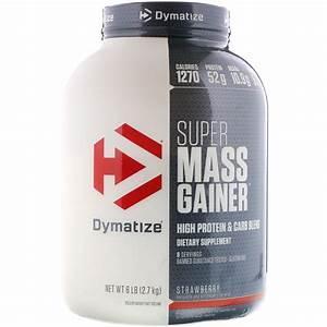 Dymatize Nutrition  Super Mass Gainer  Strawberry  6 Lbs  2 7 Kg