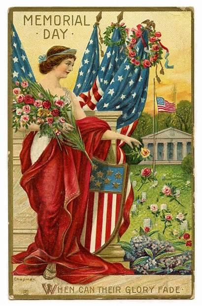 Postcard Memorial Liberty Lady Graphics Fairy
