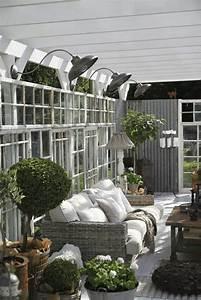 Salon De Jardin Pour Embellir Une Vranda Vitre Design