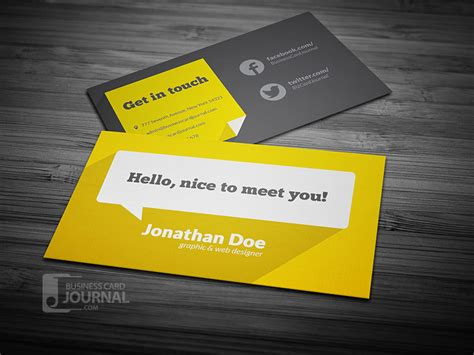 Flat Style Business Card