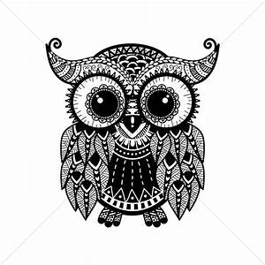 Intricate owl design Vector Image - 1544053 | StockUnlimited