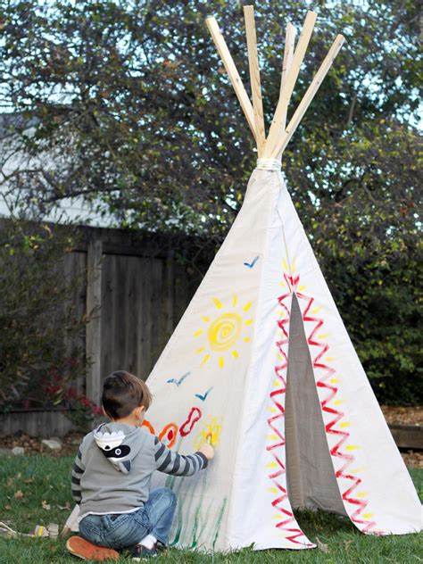 build  backyard teepee fort  tos diy