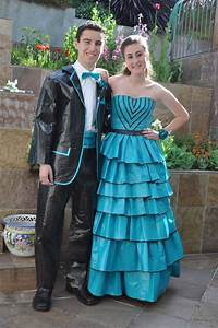 Duct tape prom dresses and suits... scholarship | Duct ...