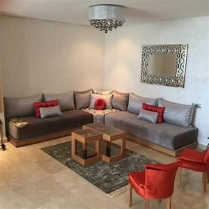 Salon Oriental Moderne : salon gris rouge brique int rieur sur mesure salons ~ Preciouscoupons.com Idées de Décoration