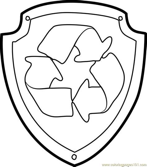 badge coloring page badges paw patrol printable sketch coloring page