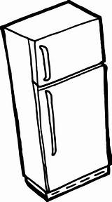 Refrigerator Coloring Clipart sketch template