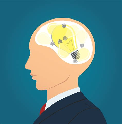 Businessman thinking with light bulb icon. concept of ...