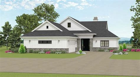 bed house plan  courtyard entry garage jj architectural designs house plans