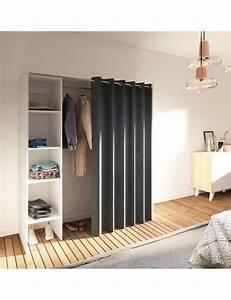 Armoire Avec Rideau : armoire extensible dressing 1 avec rideau inclus ~ Melissatoandfro.com Idées de Décoration