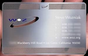 kevin mitnick39s and steve wozniak39s business cards With wozniak business card