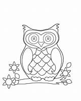 Triplets Coloring Blank Template Sheet Owl sketch template