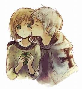 chibi boy and girl hugging - Google Search on We Heart It