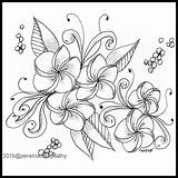Coloring Plum Lei Artwork Books Pattern Collections Flower sketch template