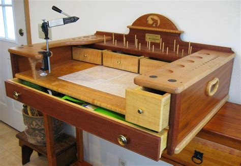 fly tying table woodworking plans fly tying stand by summerfi lumberjocks