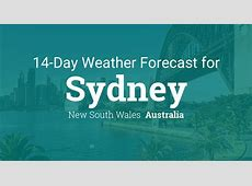 Sydney, New South Wales, Australia 14 day weather forecast