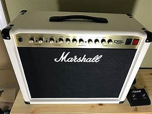 Marshall Dsl40c Cream  White With Footswitch  Mint