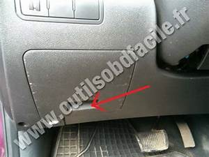 Obd2 Connector Location In Hyundai Solaris  2010
