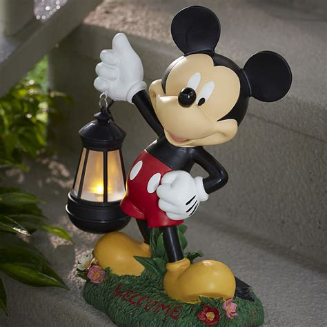 disney 17 quot mickey statue with solar lantern limited