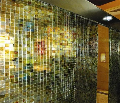 backlit glass panels contemporary tile los angeles