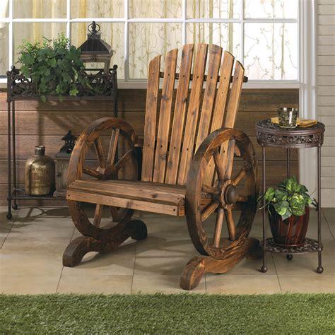 wagon wheel adirondack chair wholesale at koehler home decor