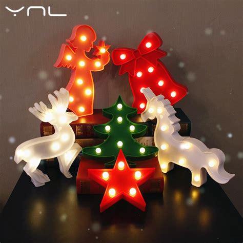 christmas decorations led tree from love actully 3d decor led light tree flamingo cactus cloud unicorn