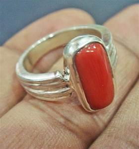 Light Pink Gemstones Awsome Natural 5 Ct Red Coral Ring For Astro Purpose In